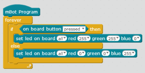 Simple program for leds and buttons - Software - Makeblock Forum